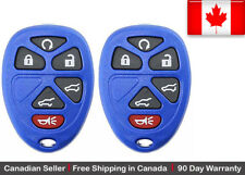 2x Blue New Replacement Entry Remote Control Key Fob For GMC Chevy Cadillac