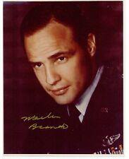 Marlon Brando autographed 8x10 color photo.