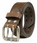 Men's Top Grain Leather Belts for Men Genuine Solid Belt Workmen 1.5inch Width