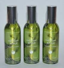 LOT OF 3 BATH & BODY WORKS MAHOGANY APPLE CONCENTRATED ROOM SPRAY PERFUME MIST