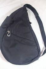 """AMERIBAG Sm BLACK Healthy Back BACKPACK Purse Bag Microfiber 17"""" Shoulder Grip"""