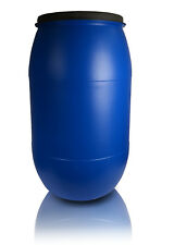 Plastic barrel 220L with LID Water Storage Container Drum Keg Screw Stock Tank