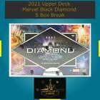 Spider Man 2021 Upper Deck Marvel Black Diamond 5 Box Break #2