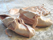 Vintage 50s Pink Satin Shoes Slippers Daniel Green SHEARLING XS 5 Travel Pouch