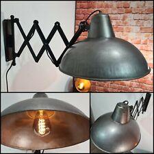 XL Industrielampe Wandlampe zuglampe Scherenarm Antik werkstatt Retro Kaiser