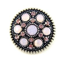 Noosa Style Chunks Snap Button Charms Ginger Snaps Charm Crystal Pink 20mm 003