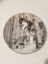 The Hamilton Collection Broken Silence Year of the Wolf Plate 1993