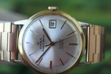 GREAT VERY BIG GOLD-PLATED MECH/AUTO SWISS ONSA WATCH WITH CALENDAR!