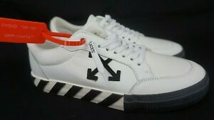 Off-White Vulcanized Low White Leather Sneakers Men's Shoes Size 43 / 10 US