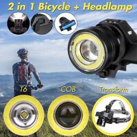50000LM T6 COB LED Rechargeable Headlamp Waterproof Bike Bicycle Head Light Lamp