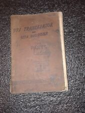 Cat 977 Traxcavator Parts Catalog Caterpillar Manual