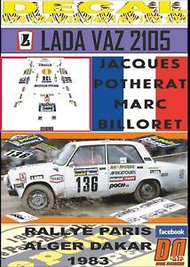 DECAL LADA VAZ 2105 JACQUES POTHERAT PARIS DAKAR 1983 (09)