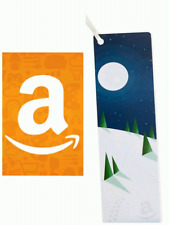 NEW $10 Amazon Gift Card in Cute Bookmark Gift Card. Buy 10 Get 1 Free!
