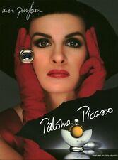 Publicité ancienne Parfum Paloma Picasso  non parfumé