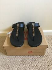 a0243dfcd Fit flop Black Fino strobe Toe Post Sandal NEW Size 7 RRP £55.00!