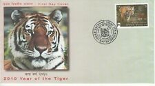 NEPAL STAMP FDC : 2010 Year of the Tiger, Animal, WWF, Brand New.