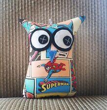 💙Handmade Owl Softies 💙 Superman 18cm Owl | Baby | Boys | Gifts | Comic