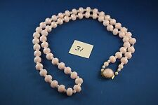 Pink white Bead Necklace 36 inch long (31)