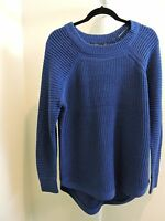 RDI Acrylic Blend Air Force Blue Hi Lo Crew Neck  Sweater Size - XL