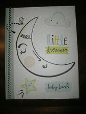 New Nwt Cr Gibson Boy Girl Little Dreamer Moon Baby Memory First Record Book