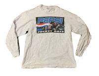 VTG 90's Pepsi Remington Park Jockey Days Horse Racing Long Sleeve T Shirt Sz XL