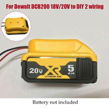 DIY Adapter For Dewalt 18/20v Max battery to dock power connector 12AWG robotics