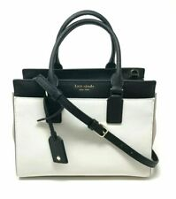 Kate Spade Cameron Medium Satchel Crossbody Beige Black Handbag Wkru6357