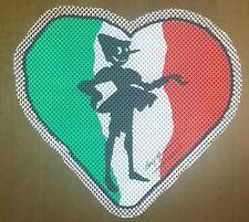 Quadretto serigrafia su plexiglass a forma di cuore con Pinocchio