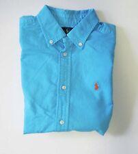 Ralph Lauren Boys Blake Oxford Short Sleeve Shirt Turquoise Sz M (10-12) - NWT