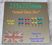 235 x 235mm Mirror Glass Plate For Heated 3D Printer Bed W Clips Ender 3 CR-20