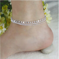 New Jewelry Foot Silver Bead Chain Anklet Ankle Bracelet Barefoot Sandal Beach
