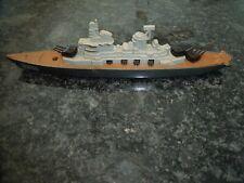 Vintage 1970'S Tootsie Toy Battleship Die Cast & Plastic Ship Made In Usa