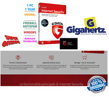 G Data Internet Security 2019 1 PC 12 mesi GDATA Versione completa PREMIUM