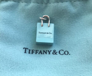 Tiffany And Co Silver And Blue Enamel Tiffany Bag RARE