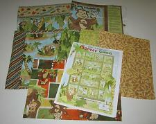 MONKEY GAMES QUILT KIT with 100% COTTON FABRIC