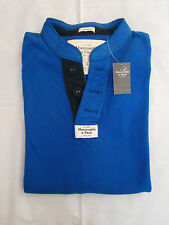 NWT Abercrombie & Fitch Mount Marshall Henley Shirt Long Sleeve Mens Size M&L