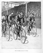 BICYCLE RACE WHEELMEN WELL BUNCHED BY A. B. FROST 1897 SPORTS BIKE RACING