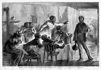NEGRO CARICATURES HAVING THANKSGIVING DINNER FIRST BORN BOY RETURNS FROM COLLEGE