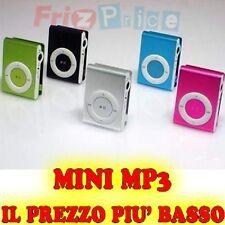 Espandibile Alluminio Lettore Clip MP3 Mini MicroSD 8GB USB !OFFERTA! yo