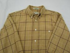 Orvis Long Sleeve Button Down Shirt Beige Size Large