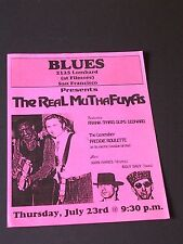 THE REAL MUTHAFUYCHS Handbill at the BLUES on Lombard San Francisco