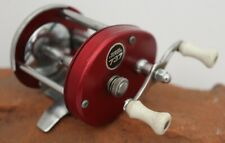 Vtg Olympic Triton 737 Lw Baitcaster Reel Level Wind Open Face Red Bass Fishing