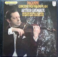 Paganini - Violin Concertos No. 1 & 4, ARTHUR GRUMIAUX, BELLUGI, Philips STEREO
