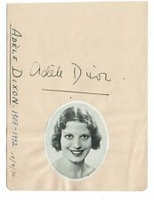 Adele Dixon Actress - Hand signed Autograph page 7 x 5