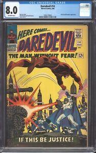DAREDEVIL #14 (1966) CGC 8.0 VF / Stan Lee / Ka-Zar & Plunderer appearance!
