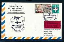 97478) DDR Eilboten So-Karte IF SF Leichtathletik WM 1983 Berlin - Helsinki