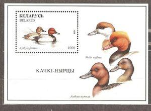 Belarus: mint block, birds, 1996, Mi#Bl 12, MNH.