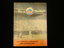 May 21, 1971 Atlanta Braves @ NY Mets Program - Hank Aaron HR off Nolan Ryan!