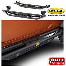 SMITTYBILT 76633 SRC Side Armor Bars Step Black 07-18 Jeep Wrangler JK 2 Door