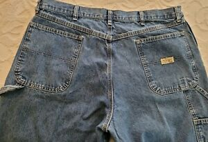 Wrangler Authentic Issue Men's 38x32 Blue Carpenter Jeans Hammer Loop